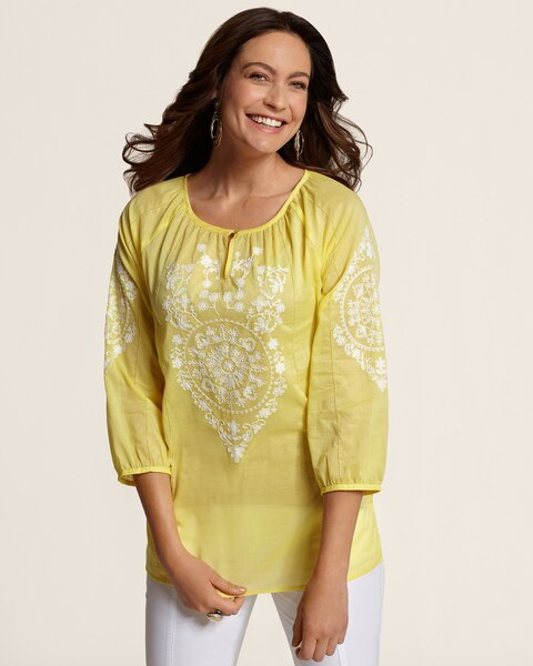 Embroidered Accent Ada Top