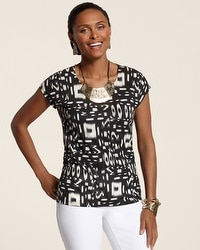 Two Tone Tribal Simone Scoop Top