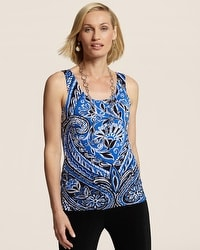Travelers Classic Midnight Floral Contemporary Tank