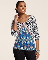 Print Mix Pyramid Blake Top