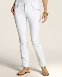 So Slimming By Chico's Rhinestone Shine Ankle Jean