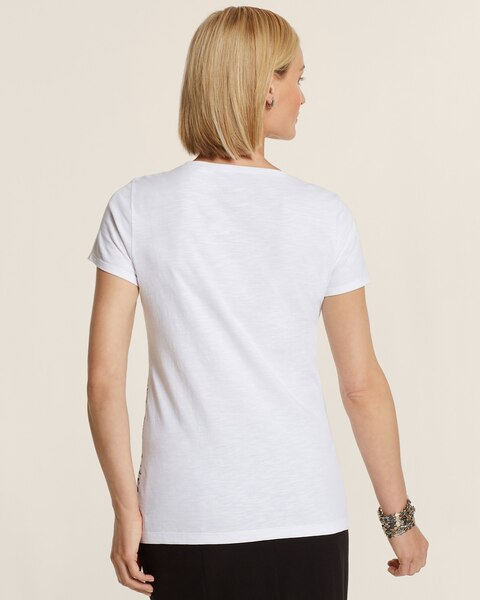 Isabella Vertical Placed Print Tee