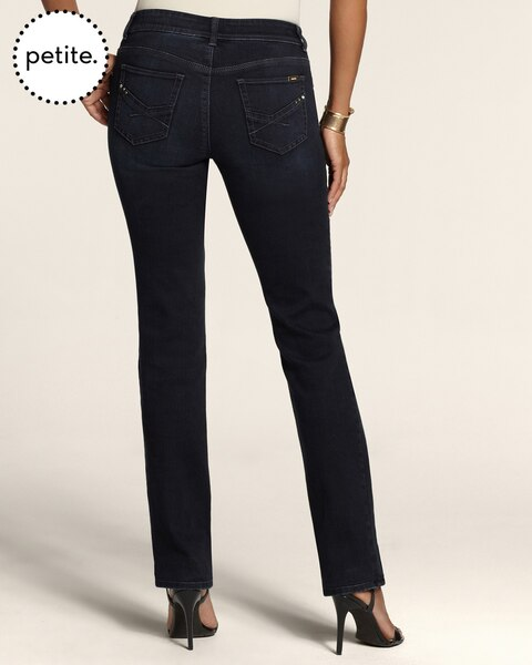 Petite So Slimming By Chico's Deep Indigo Slim-Leg Jeans