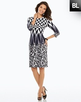 Black Label Graphic Animal Dress