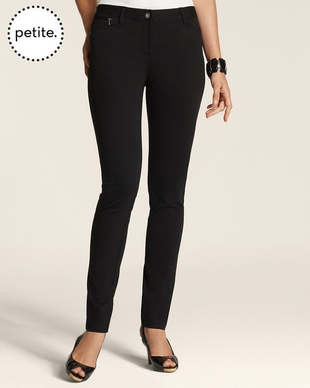 Petite So Slimming By Chico's Ponte Zip 5-Pocket Pants