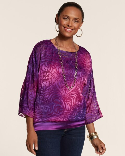 Purple Swirls Brielle Top