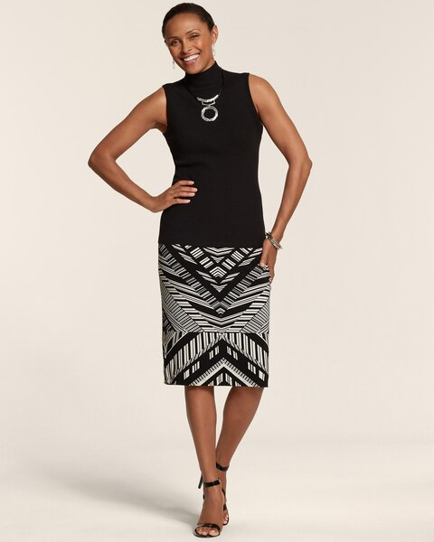 Mixed Chevron Sara Skirt