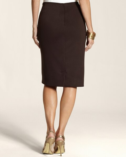 Ponte Seamed Skirt