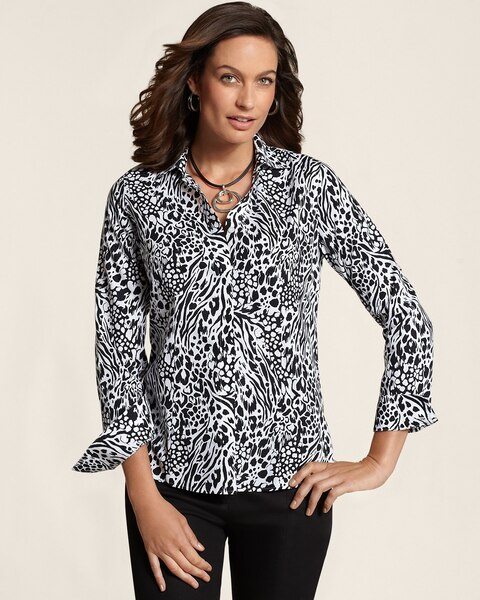 Effortless Mixed Animal Laria Top
