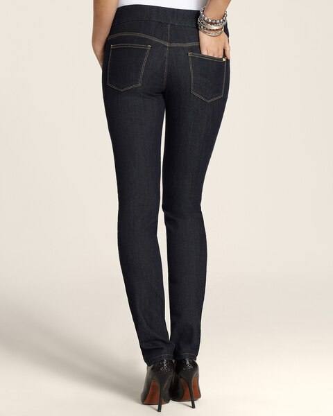 Slim Leggings in Rinsed Indigo Wash