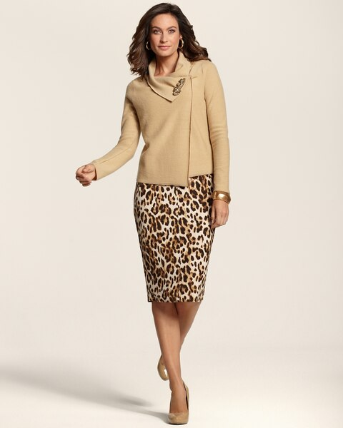 Rory Animal Pencil Skirt