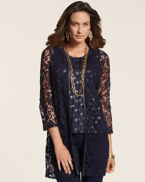Piped Lace Duster