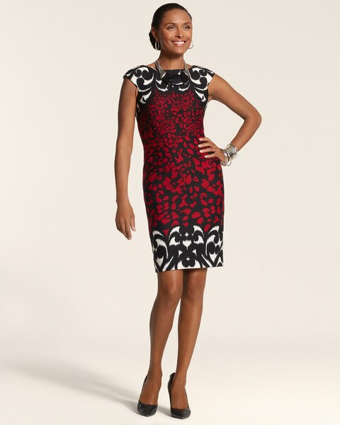 Floral Border Kate Dress