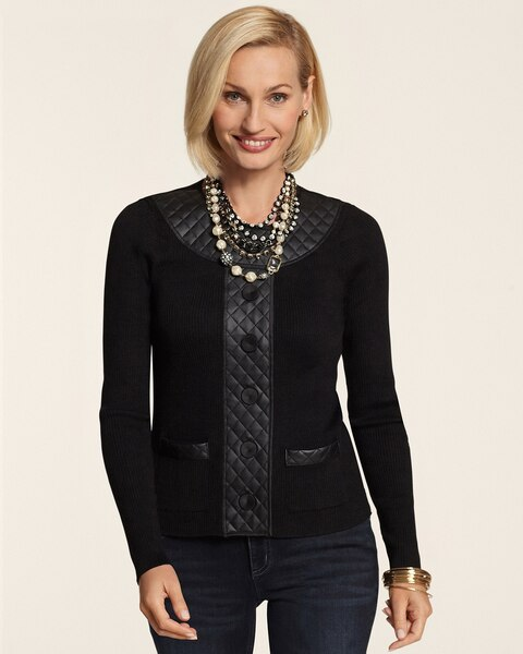 Quilted Panel Mckayla Cardigan
