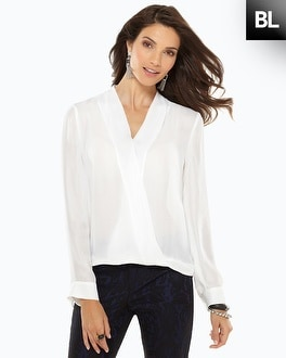 Black Label Surplice Blouse