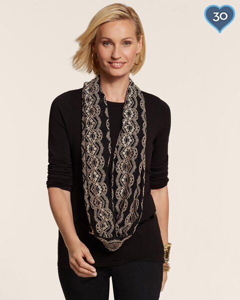 Future Lace Infinity Scarf