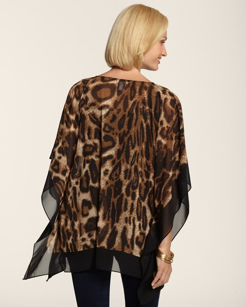 Animal Border Poncho