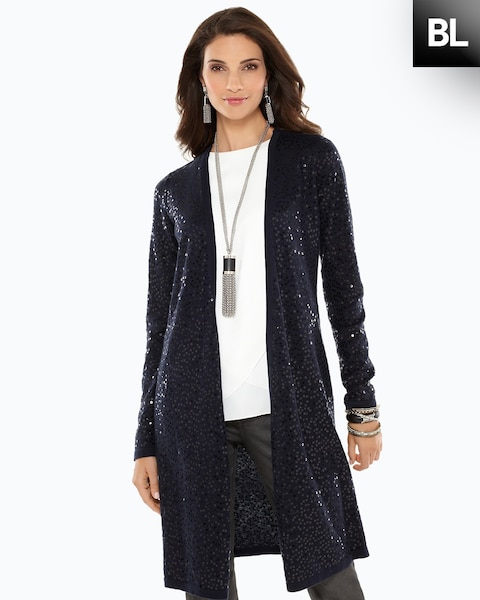 Sequin Duster Cardigan