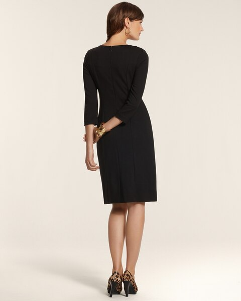 By Chico's Ponte Animal Panel Dress