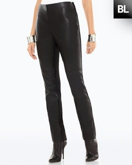 Black Label Ponte Pleather Legging - Do not use