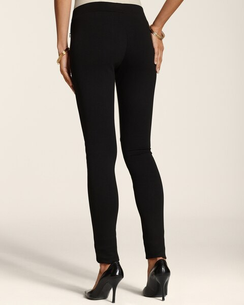 Piece Faux-Leather Ponte Pull-On Pants