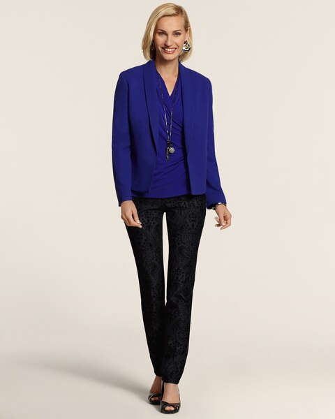 Crepe Shawl Collar Jacket