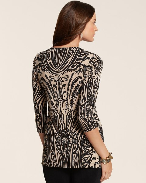Regal Paisley V Neck Top