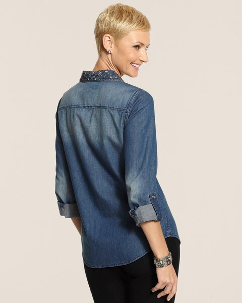 Flashy Denim Donna Top