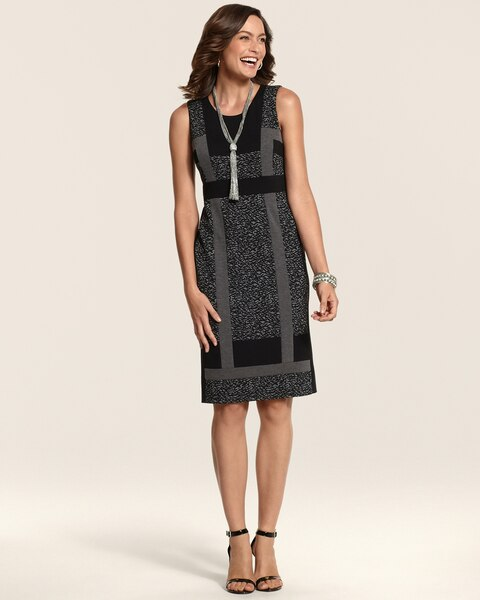 Ponte Pieced Jacquard Jessa Dress