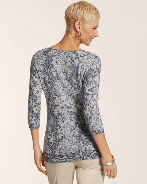 Blurred Animal Bailey Bateau Pullover