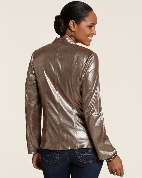 Bronzed Metallic Jamie Jacket