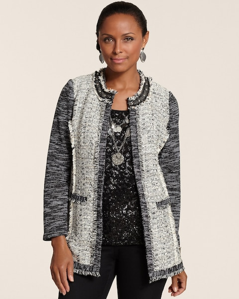 Neutral Mix Tweed Jacket