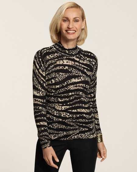 Mixed Cheetah Rena Turtleneck