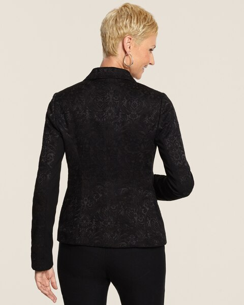 Jacquard Pieced Blazer