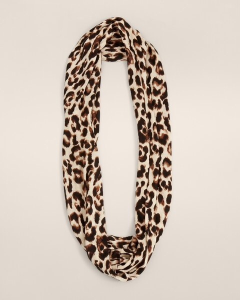 Mini Knit Cheetah Infinity Scarf