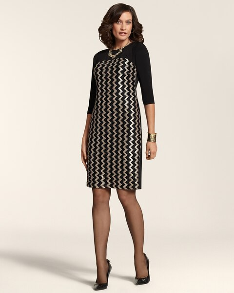 Chevron Mix Chanon Dress