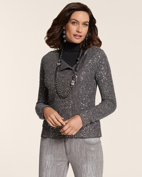 Sage Sequin Cardigan