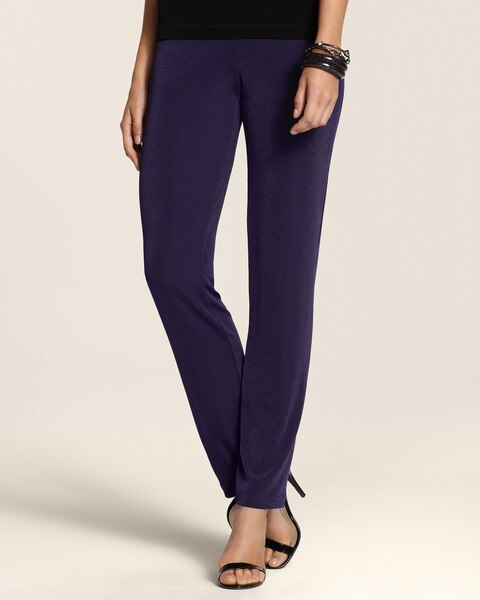 Essential Slim Pants in Aubergine