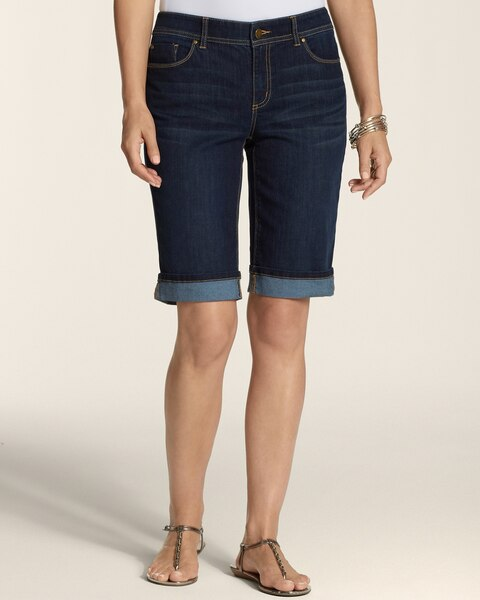 Platinum Denim 5-Pocket Shorts