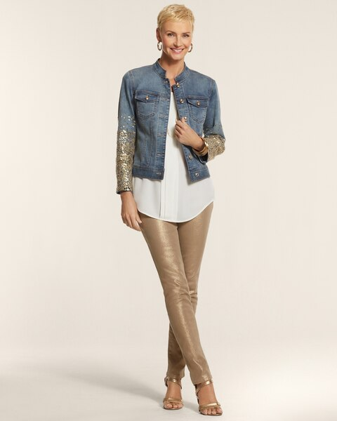 Sequin Embellished Denim Jacket