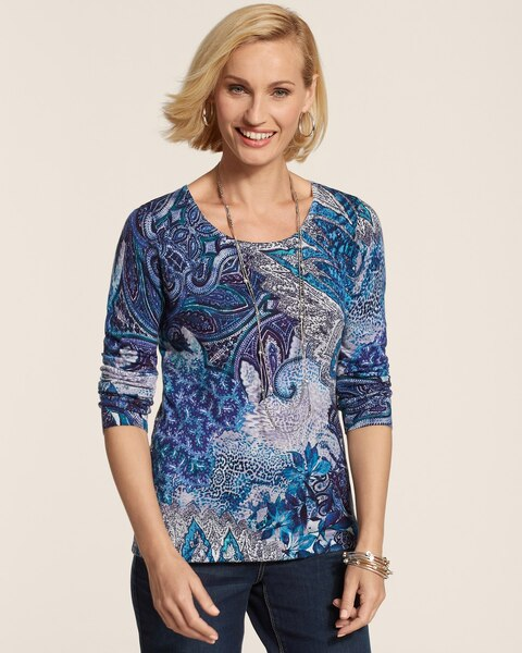 Blushed Paisley Mindy Pullover