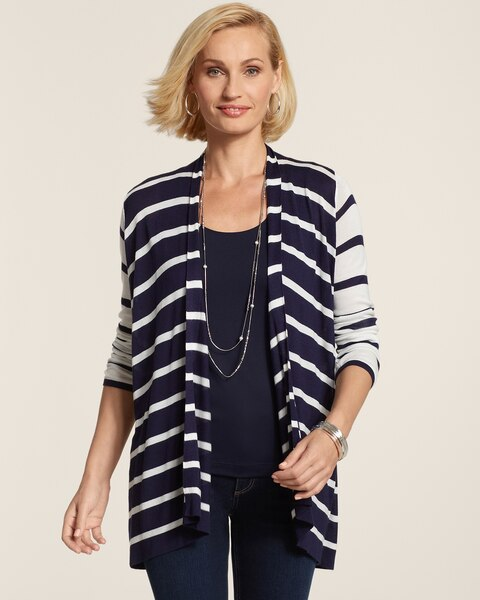 Blocked Stripe Caliope Cardigan