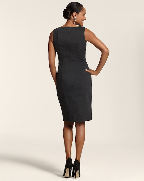 Ponte Sequin Panel Talia Dress