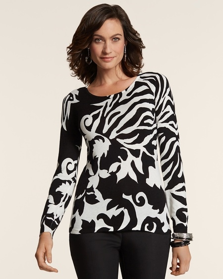 Chic Contrast Mindy Pullover