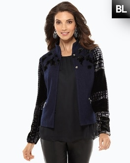 Black Label Brocade Stud Jacket