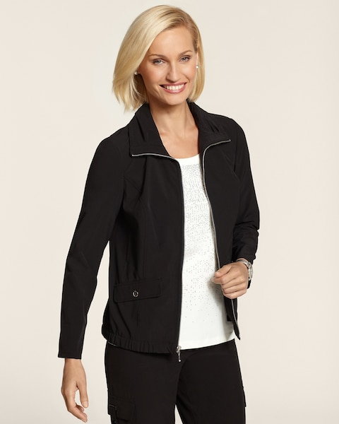 Neema Black Solid Jacket
