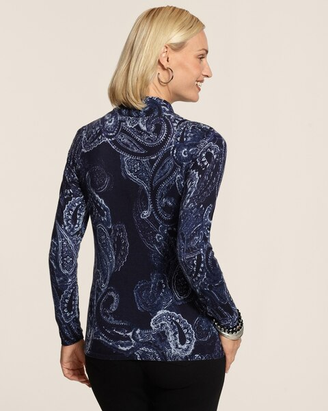 Blurred Paisley Rena Turtleneck