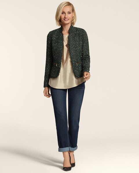 Emerald Tweed Jacket