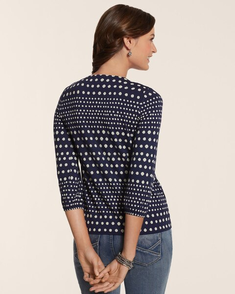 Sea Breeze Dot Sienna Side Tie Top