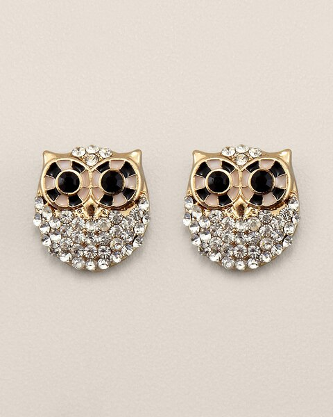 Hazel Owl Stud Earrings
